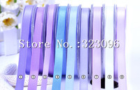(100 yards/roll) 9mm Single Face Satin Ribbon Wedding Decoration Gift Christmas Ribbons 196 colors Available