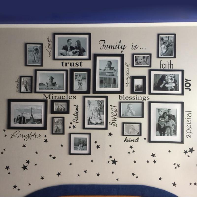 Vinyl Sticker for Wall Scrap Book Photo Album Frame Family Always