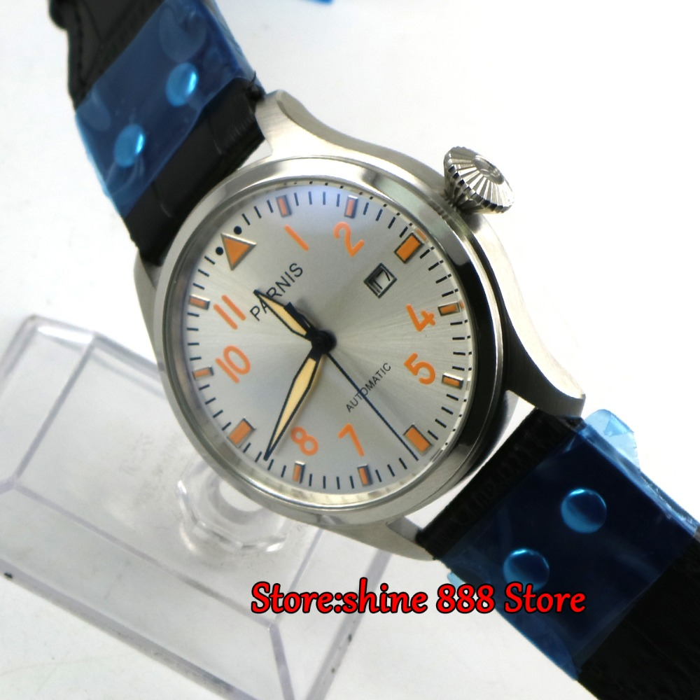 47mm parnis white dial ST 2551 movement date adjust automatic mens watch luxurious 47mm parnis coffee dial date seagull automatic movement mens watch page 6