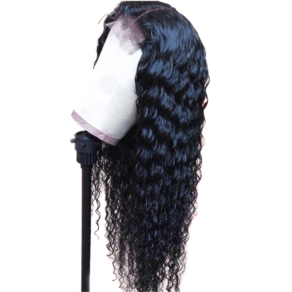 Sapphire Loose Curly Wig Brazilian Curly Lace Front Human Hair Wigs With Baby Hair Lace Front