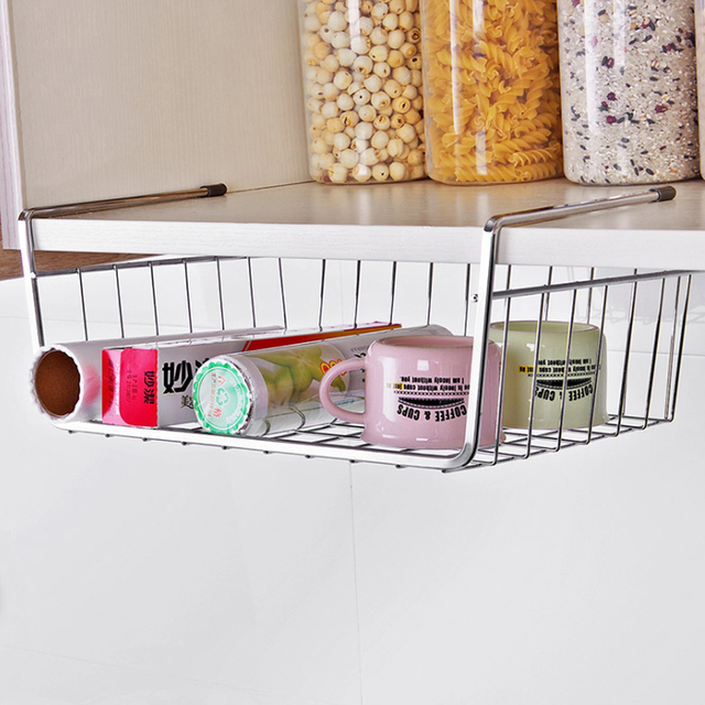 Multifunctional Alloy Over Door Storage Rack Practical Kitchen Cabinet Drawer Organizer Hanger Basket Tools