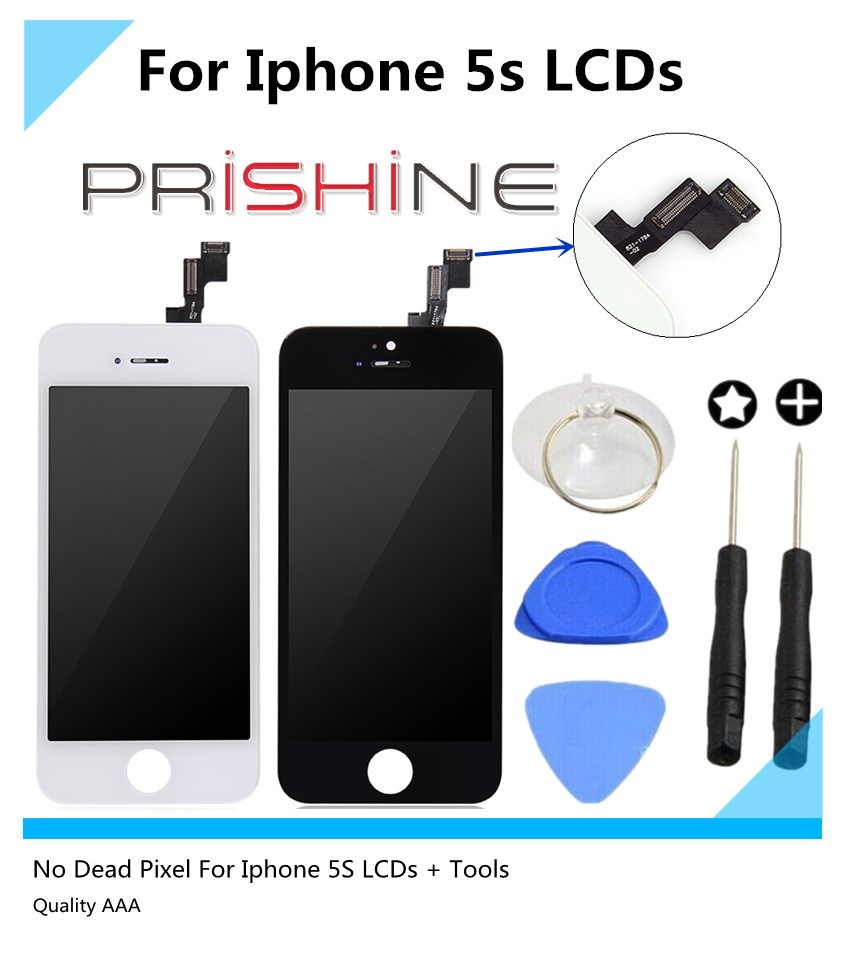 10 PCS/Lot display For Iphone 5S Lcd pantalla and Touch Screen digitizer Assembly screen digitizer assemably DHL Free Shipping