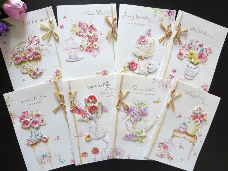 Stock Handmade Happy Birthday Greeting Cards Blessing Best Wish 5pcs Lot Beautiful Design Free Shipping On Aliexpress