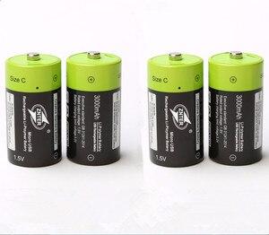 4 шт./лот ZNTER 1,5 V 3000mAh аккумуляторная батарея C Размер микро USB перезаряжаемая литий-полимерная батарея медицинское оборудование Батарея