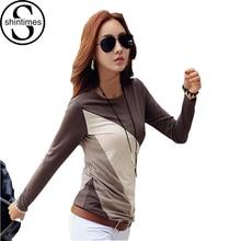 Купить с кэшбэком 2014 Women's T-shirt women casual Basic Brand Vintage Long Sleeve Tops Plus Size S - XXXL Women's Clothing T - Shirts Blouses