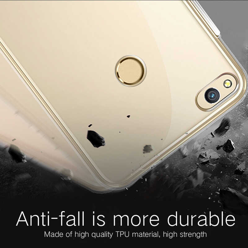 Huawei Honor8 Case Honor 8 Cover Transparent Ultra-thin Soft Clear Luxury Back TPU Slim Sample Shockproof Camera Protective