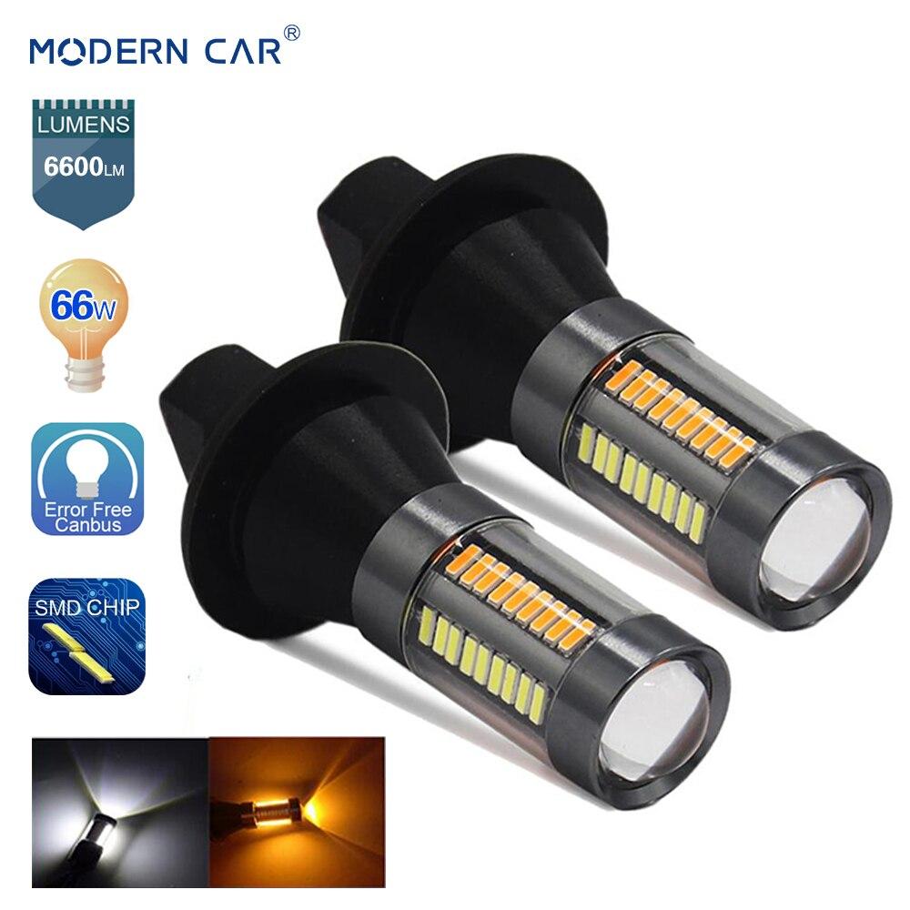 MODERNE AUTO S25 BA15S BAU15S 1156 66SMD Spot Licht T20 7440 DRL blinker 66 watt 4014 Signal Lampen 6000 karat 10000LM Canbus Led-lampe