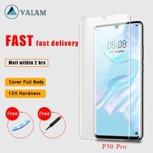Nano płynny klej UV pełna pokrywa szkło hartowane dla Huawei P30 Pro ochraniacz ekranu dla Huawei P20 Pro Mate 20 Pro P30 Pro szkło