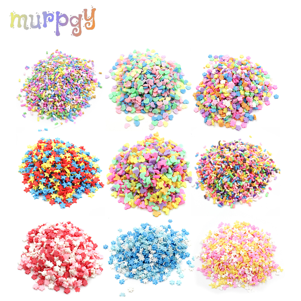 20g Addition Sprinkles Slime Fluffy Mud Toys Filler For Charms Slime Supplies DIY Lizun Beads Cake Dessert Kit Accessories Toys