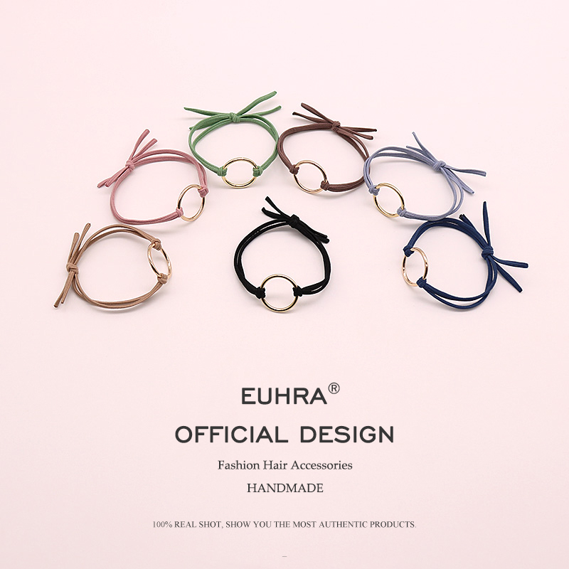 EUHRA 7 Colors Elastic Hair Bands Hoop Iron Ring High Elasticity Women Girls Childre Fashion Hair Accessories Scrunchie in Women 39 s Hair Accessories from Apparel Accessories