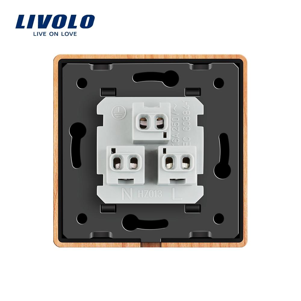 Livolo EU Standard US Power Socket, Cherry Wood Panel, 16A Wall ...