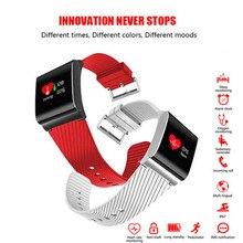 Цвет Экран Smart группа крови Давление Шагомер фитнес-трекер активности Водонепроницаемый OLED анти-потерянный Смарт baracelet SmartBand