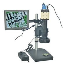Cheap price 2.0MP HD 3 in 1 USB VGA Digital Industry Microscope Camera Magnifier+180X C-mount Lens+Table Stand+8″ HD LCD Monitor Microscopes