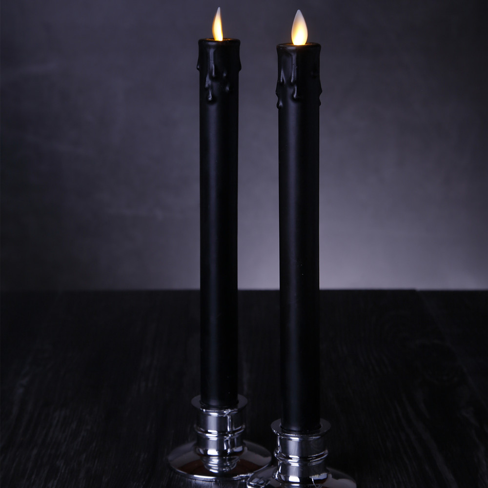 Flameless Taper Candles with Timer