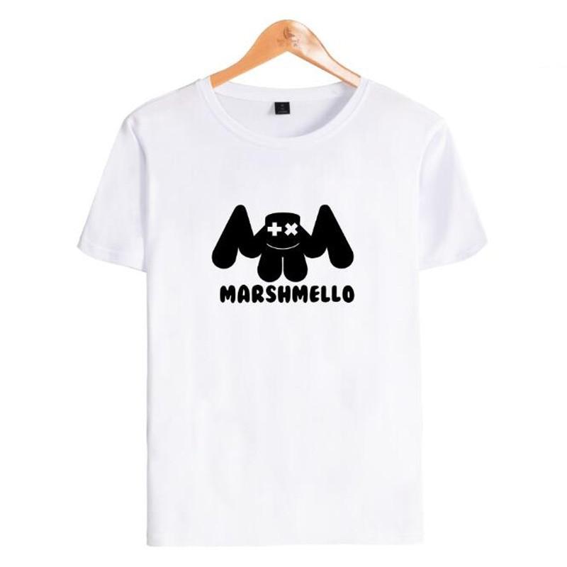 Hip Hop Fashion Brand Clothing DJ Marshmello T Shirt Men Summer O-Neck Short Sleeve Boy Cotton T-Shirt Male Female Tshirt Homme