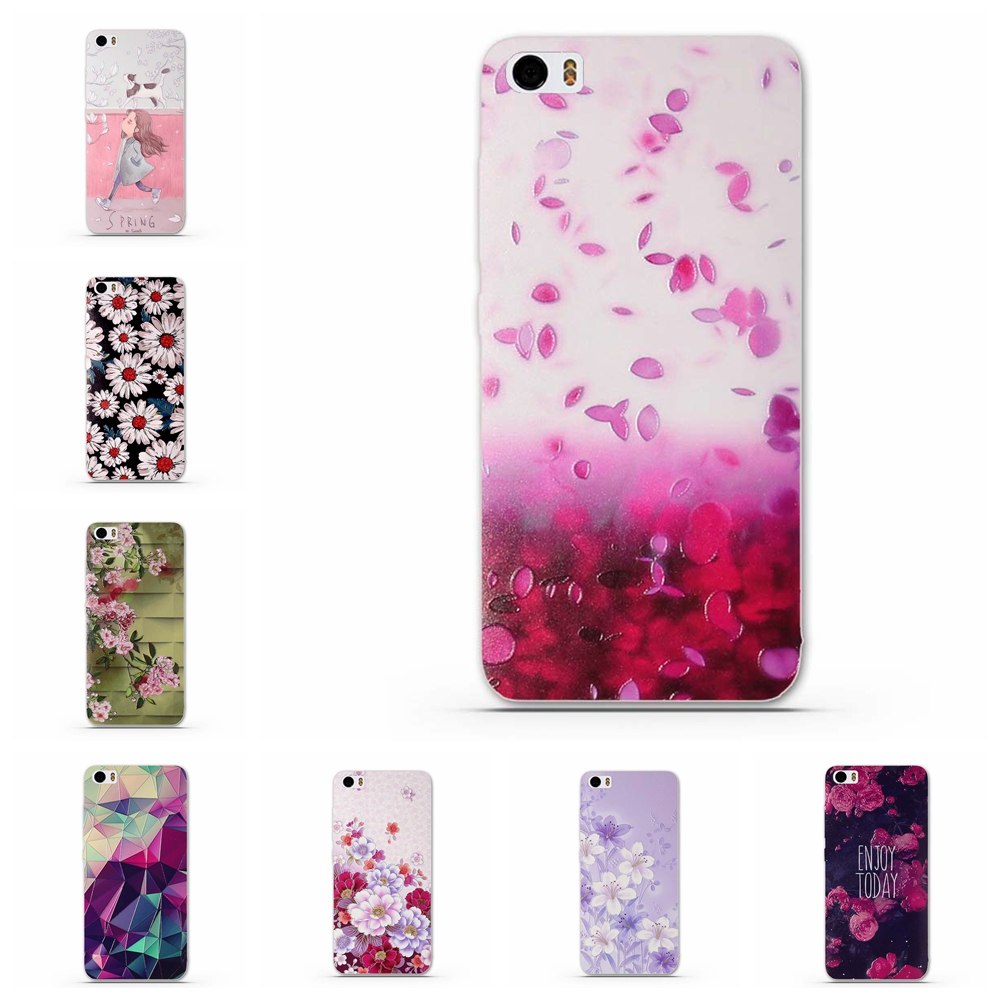 2017 Flower Printed Case for Xiaomi 5 Xiao Mi 5 MI5 M5 Soft Silicone Back Phone Cover for Xiaomi5 M 5 MI 5 Pro Xiaomi Mi5 Prime