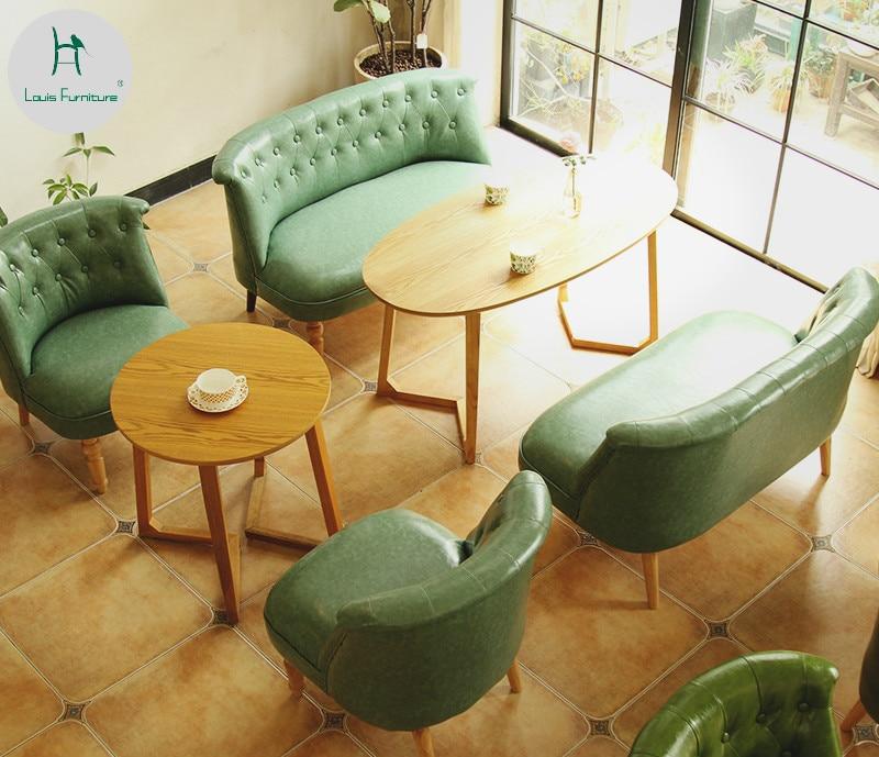 Coffee Table And Chair: Louis Fashion Milk Tea Dessert Shop Coffee Western