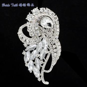 Rhinestone Brooches Women Jewelry Wedding Clear Violet Flower Brooch Broach Pin Birdal Brooch Crystal Free Shipping 8 Color 4243