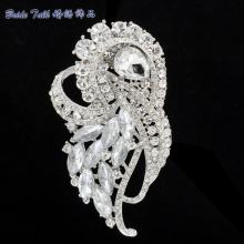 Rhinestone Brooches Women Jewelry Wedding Clear Violet Flower Brooch Broach Pins for Birdal Crystals Free Shipping 8 Color 4243