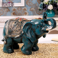 European Home Furnishing wine craft decoration Feng Shui Lucky Elephant of Thailand TV cabinet decoration room