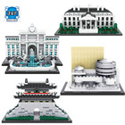 LOZ Blocks Architecture Series The White House Juguetes Trevi Fountain Mini Diamond Blocks Compatible Educational Lepins Toy