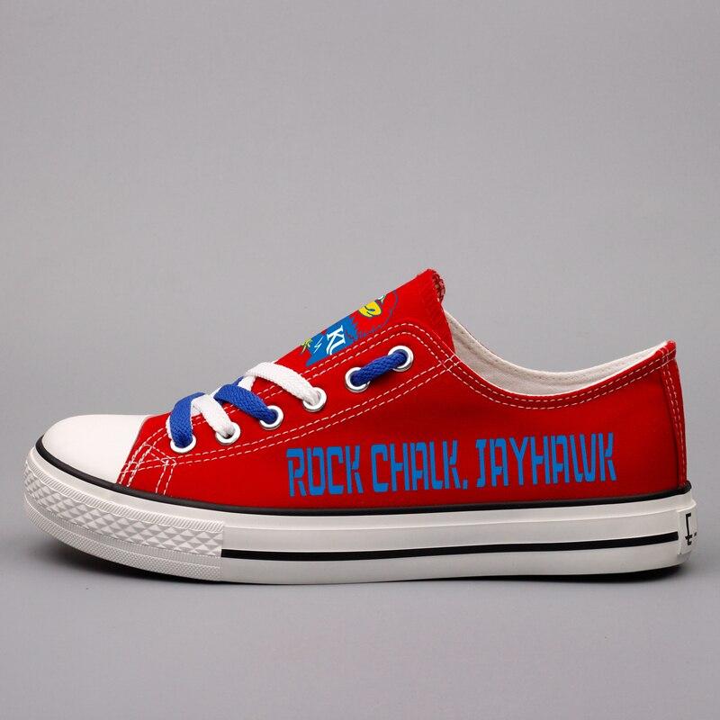 Femmes Plat Marche Kansas Personnaliser Rouge Chaussures Loisirs De À dkq31r Plus T Occasionnels Étudiants State Toile Taille Amérique 0000 Lacets R7g6R