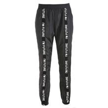 HOUZHOU Harem Pants Trousers Full Length Loose Elastic Waist Black Pants