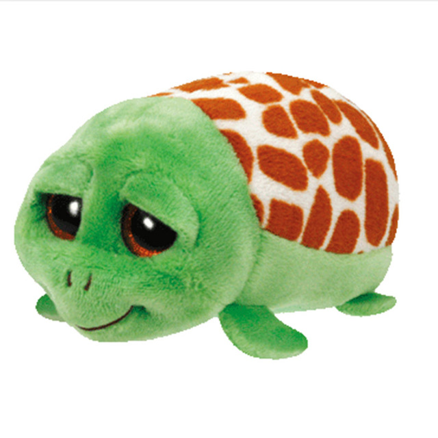 TY Beanie Boo teeny tys Plush Green turtle 9cm Ty Beanie Boos Big Eyes  Plush Toy Doll Purple Panda Baby Kids Gift 30c0ee032f2