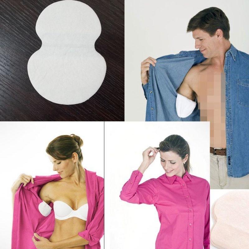 50 Pcs 25 Pack Summer Armpit Deodorants Cotton Pads Dress Disposable Underarm Sweat Pads Absorbing Anti Perspiration  Deodorant