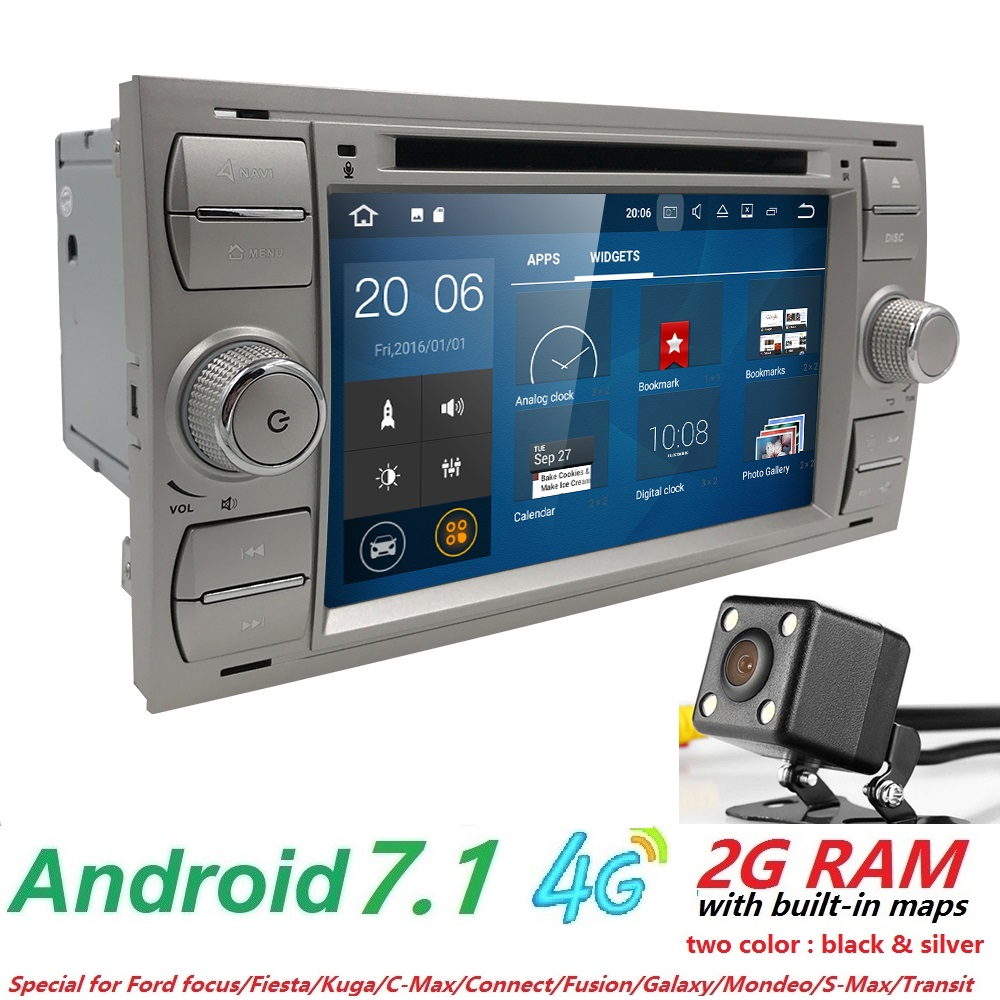 Quadcore android7 1 car dvd gps for ford focus 2004 2008 car dvd player