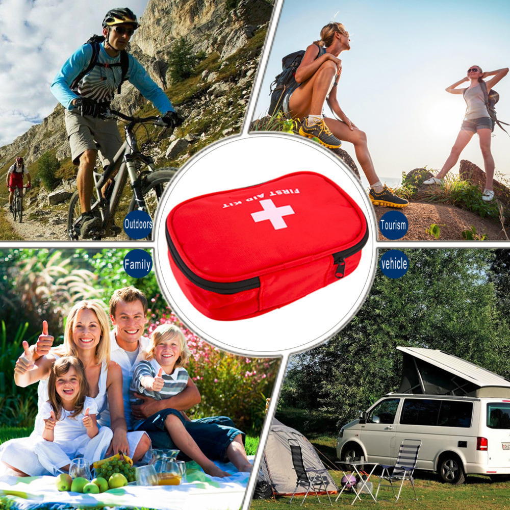 in stock ! First Aid Kit Emergency Survival Medical Rescue Bag Treatment Case Home стоимость