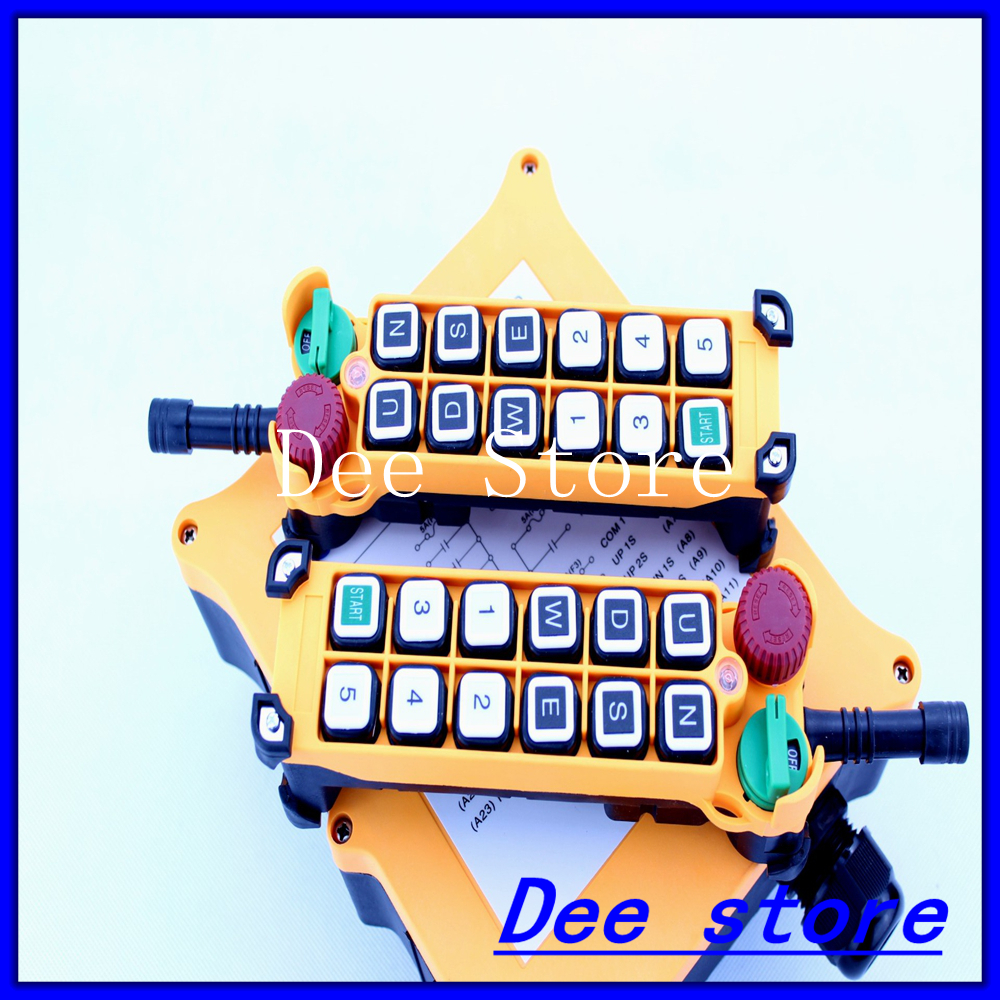 2 Speed Transmitters 11 Channels Hoist Crane Industrial Truck Radio Remote Control Push Button Switch System Controller