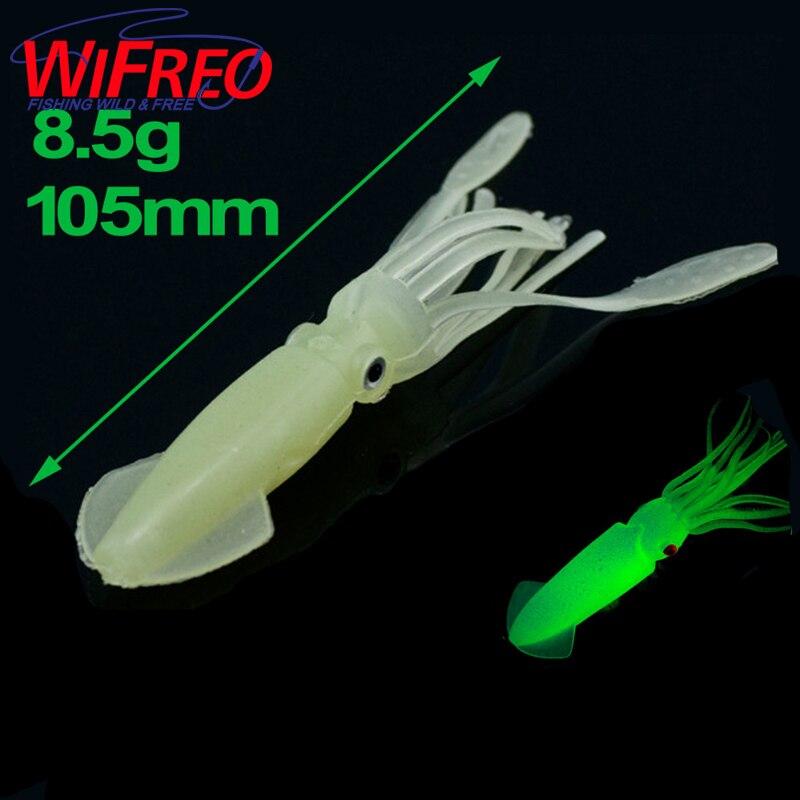1 unid 105mm   8.5G grande suave calamar luminoso señuelo al por mayor Lumo  caucho calamar Pesca cebos material fábrica precio fc739b90eae
