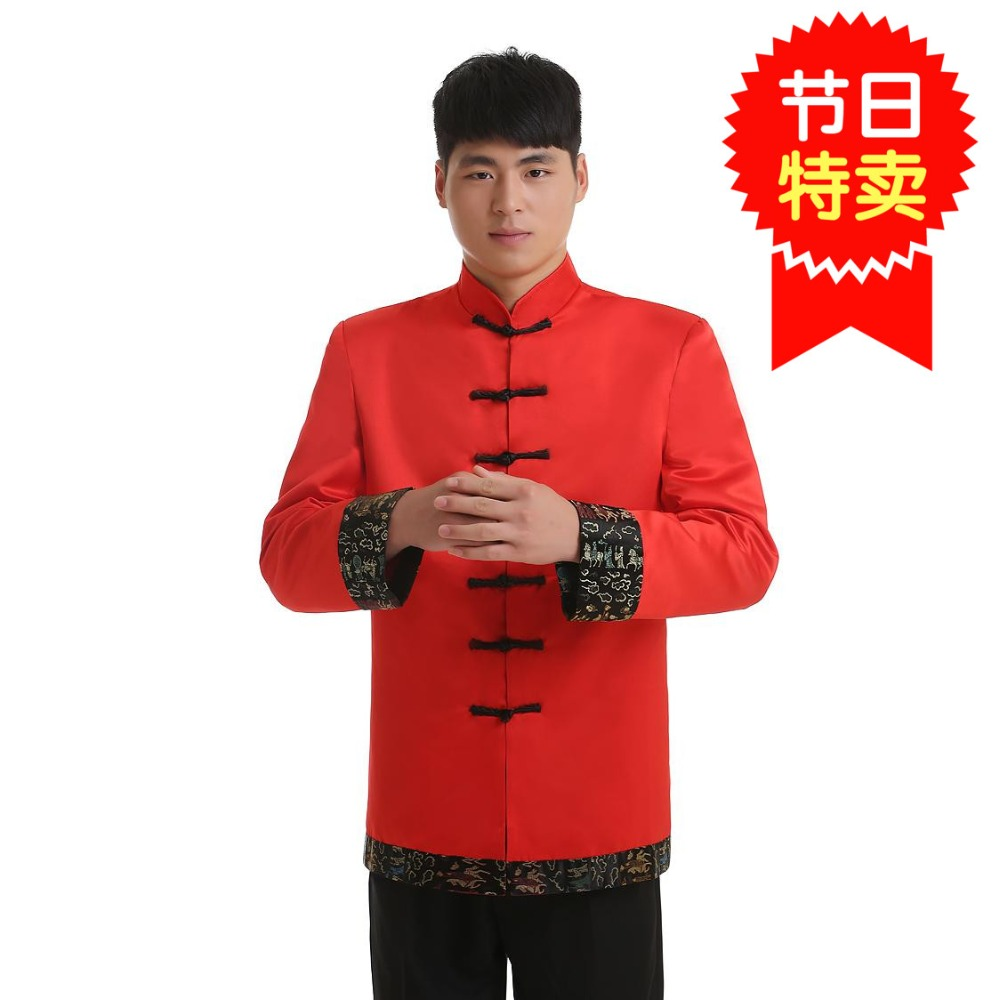 Livraison gratuite manches longues Tang costume chinois vêtements traditionnels porter col mandarin veste chinoise Top ropa chine