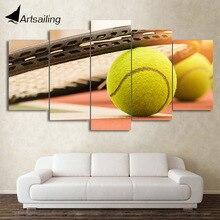 HD с 5 шт. холст Книги по искусству Теннисные Мячи живописи оформлена настенные панно для Гостиная современный плакат Бесплатная доставка CU-2266C