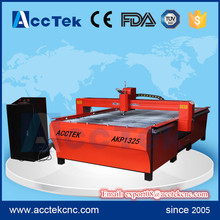 2017 acctek cnc plasma cutter 1325 cnc plasma and flame cutting machine for steel and aluminum