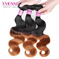 3Pcs/lot Ombre Brazilian Hair Body Wave,Top Quality Human Hair Weave,New Arrival Aliexpress YVONNE Hair Products