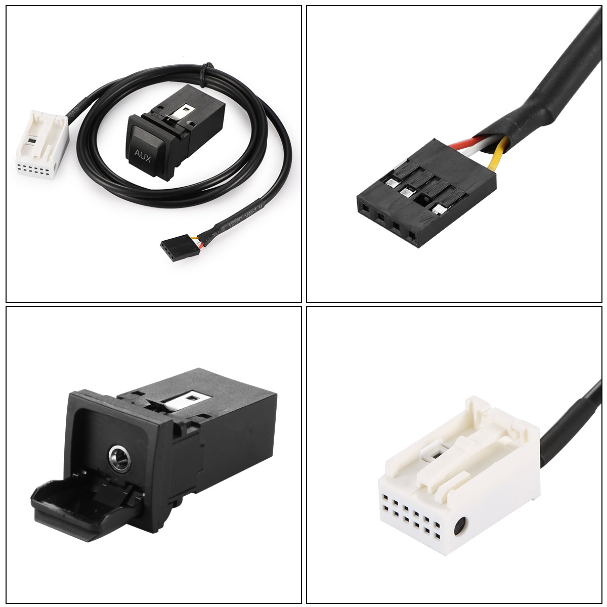 Vingtank Black USB Switch Cable AUX Cable Premium Connecting Line Wire  Harness Switch Cable For VW RNS315 RCD510 Magotan L POLO -in Cables, ...
