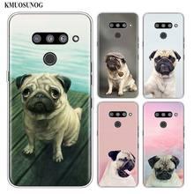 Silicone Soft Phone Case pug dpt for LG K50 K40 Q8 Q7 Q6 V50 V40 V30 V20 G8 G7 G6 G5 ThinQ Mini Cover