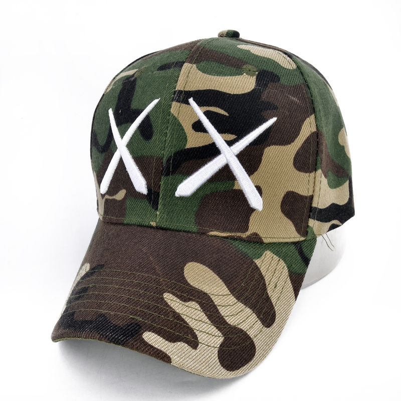 New fashion camouflage embroidery Fork baseball cap men and women outdoor sports caps golf hat hip-hop hat