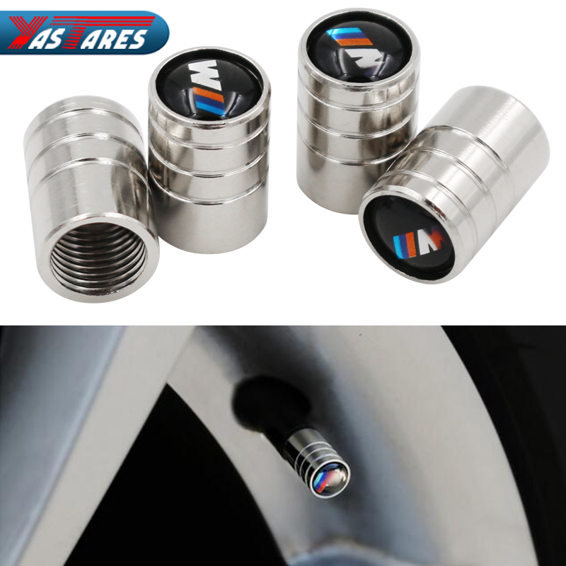 4Pcs Car Emblem Badge Wheel Tire Valves Tyre Stem Air Caps for BMW F30 F20 F10 F15 F13 M3 M5 M6 X1 X3 X5 X6 senies car sticker