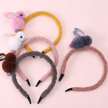 1 Piece New Kids Cute Rabbit Headbands Hairband Headwraps Animals Hairpins Plush Rabbit Ears Hair Clips Girls Hair Accessories