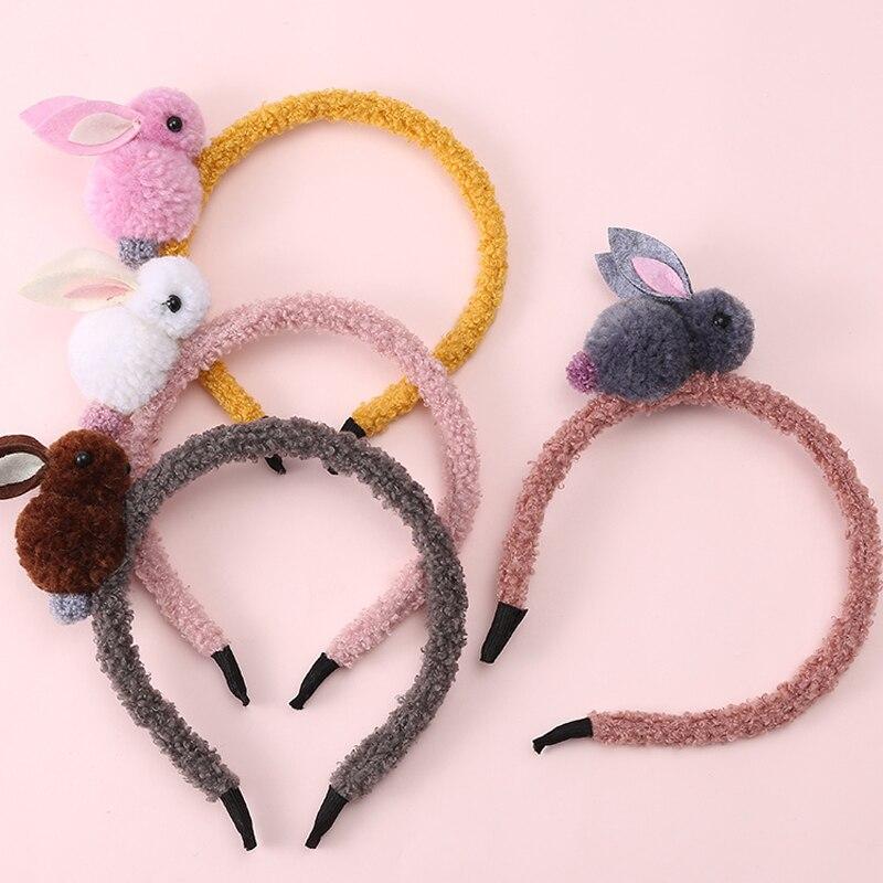 1 Piece New Kids Cute Rabbit Headbands Hairband Headwraps Animals Hairpins Plush Rabbit Ears Hair Clips Girls Hair Accessories