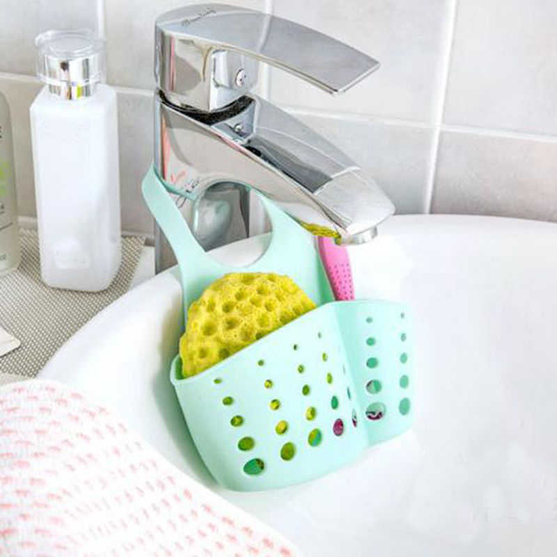 Adjustable Kitchen Organizer Sponge Storage Hanging Basket Bathroom Accessory Kitchen Organizer Hanging Storage Holder New