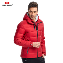 MALIDINU 2019 Down Jacket Men Winter Coat Brand 70%White Duck Thick Warm Parka Detachable Hood -30C