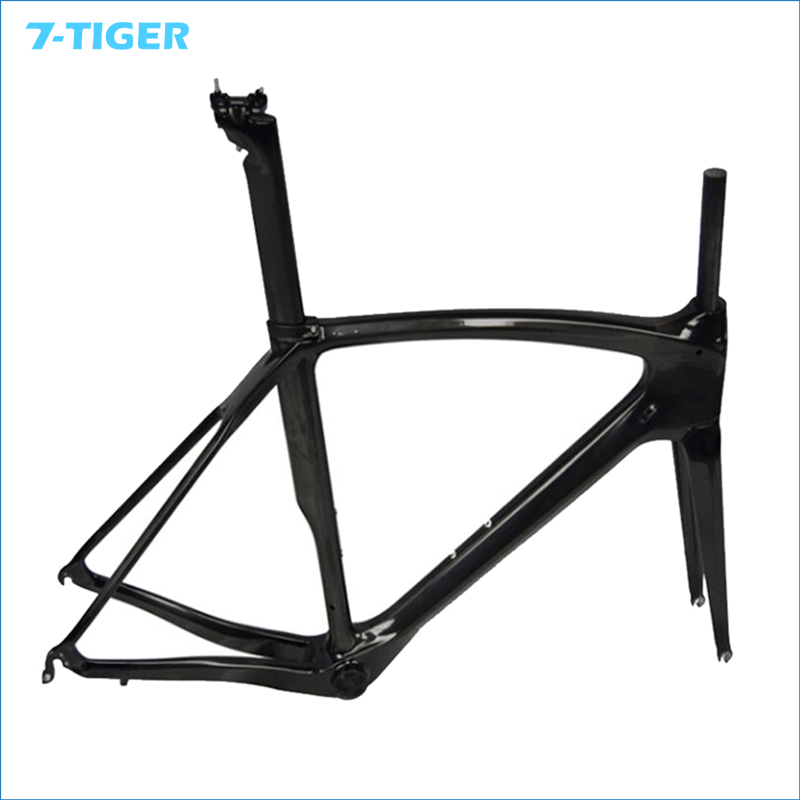 7-TIGER 2016 carbon frame bike frame UD glossy & matte bicycle frames bicycle carbon road bike frameset customized painting 2018 carbon fiber road bike frames black matt clear coat china racing carbon bicycle frame cycling frameset bsa bb68