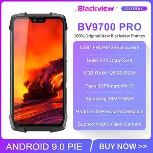 "Image 2 - الهاتف الذكي Blackview BV9700 Pro IP68/IP69K هاتف محمول وعر هيليو P70 ثماني النواة 6GB + 128GB 5.84 ""IPS 16MP + 8MP 4G Face ID"