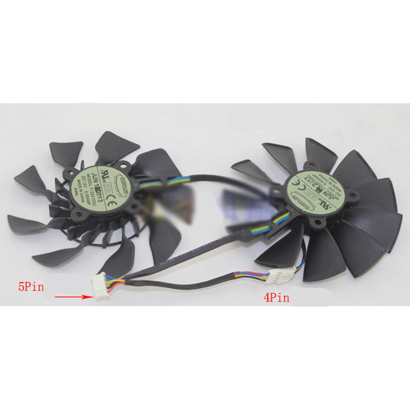 New for ASUS GTX780 GTX780TI R9 280X/290X VGA COOLER T129215SU 5pin Smart fan new original for msi gtx780 gtx780ti gaming video card cooler cooling fan with heat sink