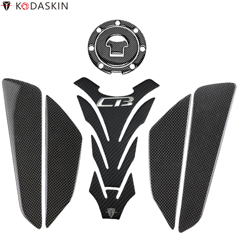 KODASKIN 3D Carbon Tank Pad Stickers Decals Side Knee Protectors For Honda CB1000R