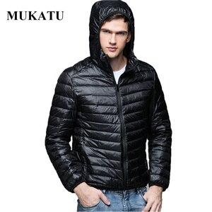 Image 1 - Для мужчин Мужские парки зимнее пуховое пальто Куртка–пуховик на 90% белом утином пуху Ultra Light Plus Размеры зимняя брендовая Пуховики и парки для мужчин Для мужчин Верхняя одежда с капюшоном, пальто